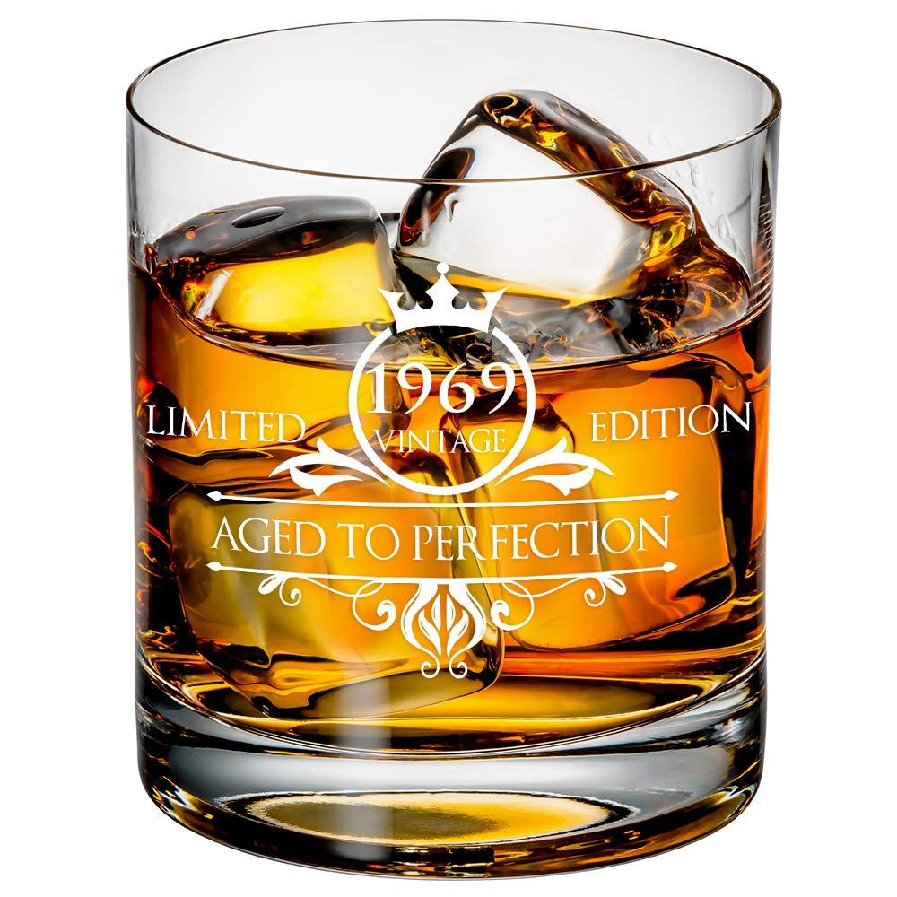 Amazon.com: Vaso de whisky de 50 cumpleaños para hombre y ...