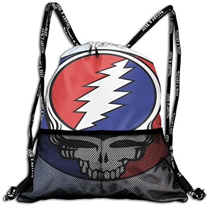 8b6f20704e89 JOHNATHANGRIFFIN Grateful Dead Drawstring Backpack Bag Men Women Sport Gym  Sack