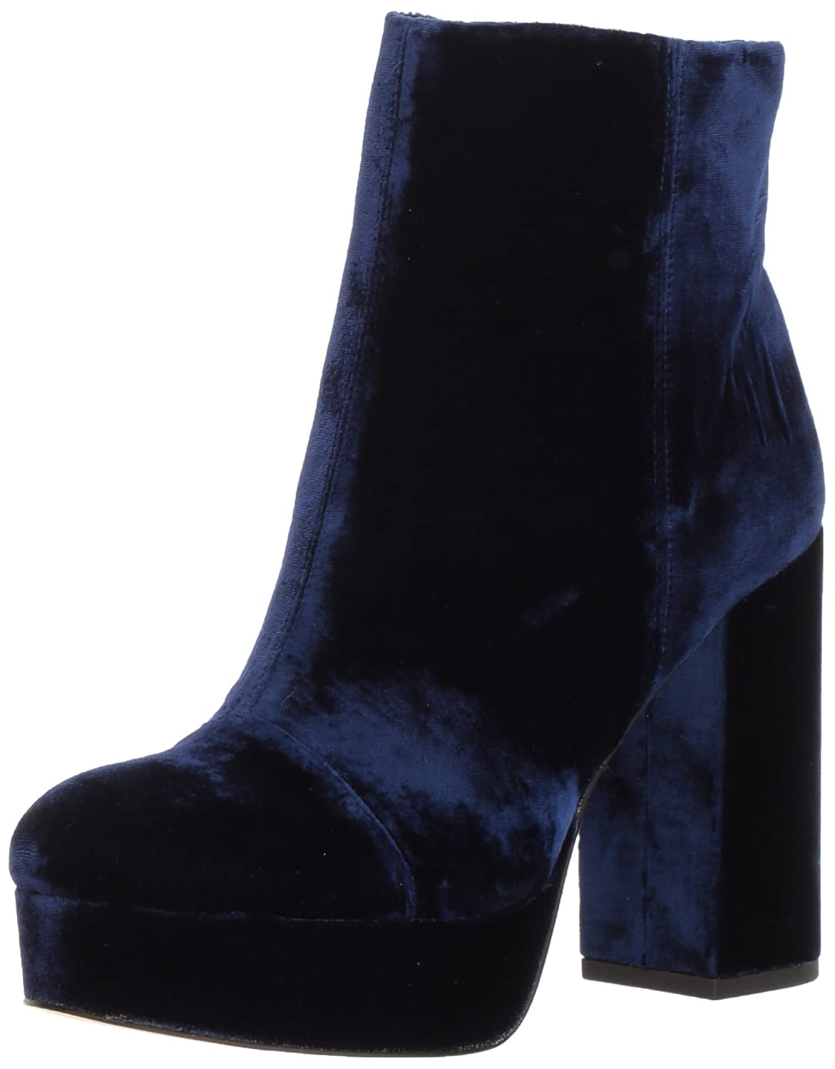 Sam Edelman Women's Azra Fashion Boot B071DHDX3R 7.5 B(M) US|Poseidon Blue Velvet