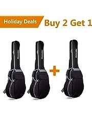 Rockwalker RWB17CTBK Padded 3/4 Size Classical Guitar Gig Bag- Walk Series in Black