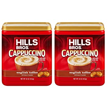 Hills Bros. English Toffee Cappuccino, 16 ounce (Pack of 2)