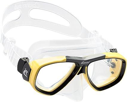 394f60b159 Cressi Primera máscara de Buceo con Lentes de Inclinado para Buceo - Lentes  Ópticas Disponibles