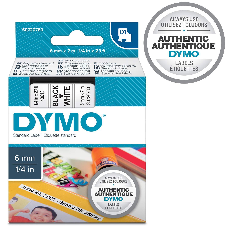 S0720590 stampa nero su verde Dymo D1 etichette autoadesive per stampanti LabelManager rotolo da 12 mm x 7 m