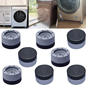 Shock And Noise Cancelling Washing Machine Support,Washing Machine Foot Pads,Washing Machine And Dryer Noise Reduction Feet Pads For Reducing Noise And Vibrasion 8pcs 3.5cm