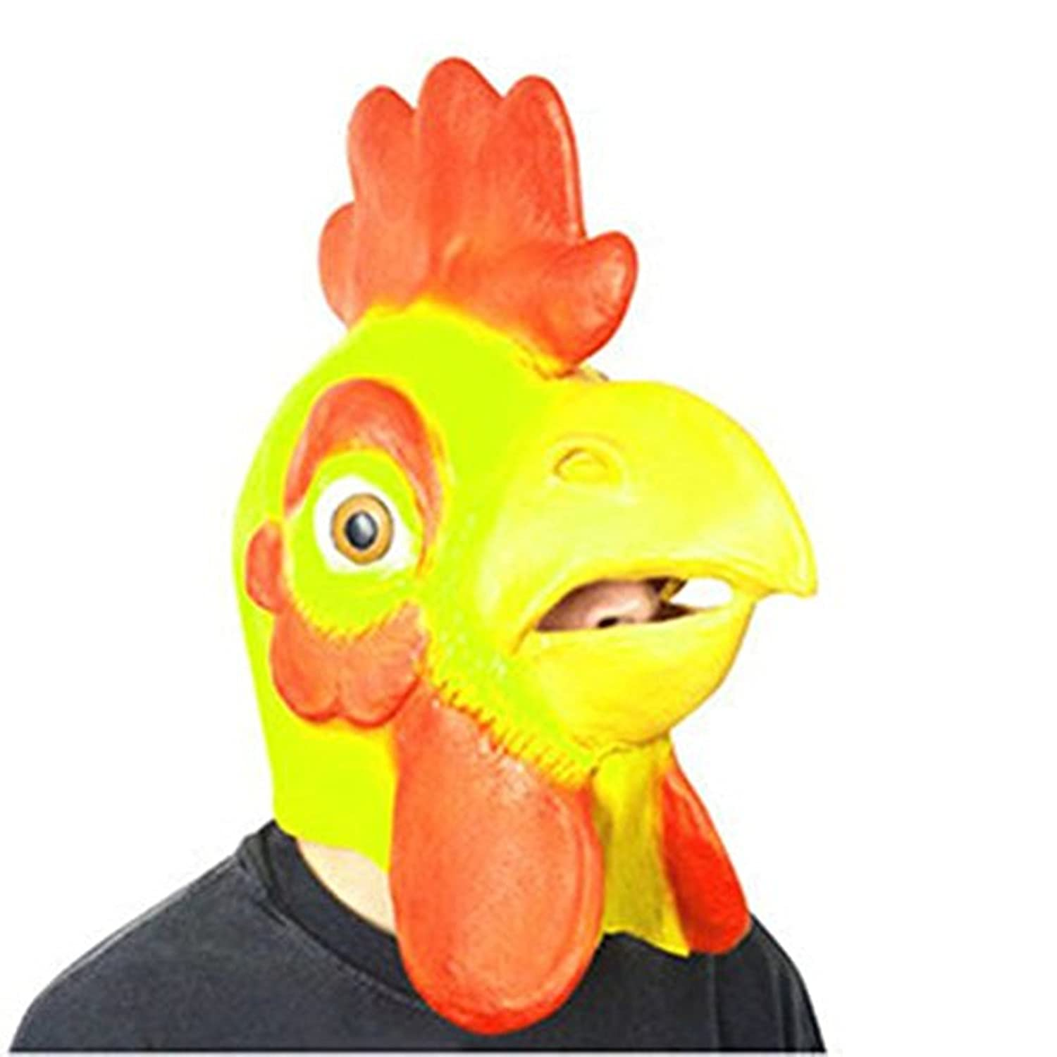 Cock Latex Mask for Christmas,Halloween,Dance Party,Back to School,Video  chat: Amazon.ca: Home & Kitchen