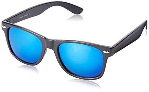 31260ecd11 Image Unavailable. Image not available for. Color  Flat Matte Reflective  Flash Color Lens Large Horn Rimmed Style Sunglasses ...