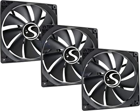 Suranus Kit 3 Ventiladores pc 140 mm su-14025s 3 + 4 Pines 1400 ...