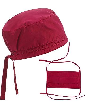 Red Cars Design. Doctor Nurse Operating Theatre Scrub Hats