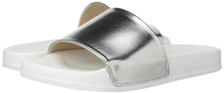Franco Sarto Women's Poland Slide Sandal B06XSN6523 8.5 B(M) US Silver