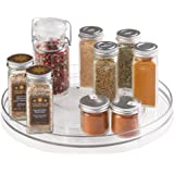 Stainless steel lazy susan 2 tier turntable kitchen baby - Spice rack for lazy susan cabinet ...