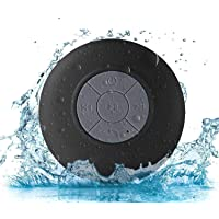 Sudroid Portable Waterproof Shower Speaker Bluetooth 3.0 with Built-in Mic Powerful for Pool Boat Beach Hiking Camping…