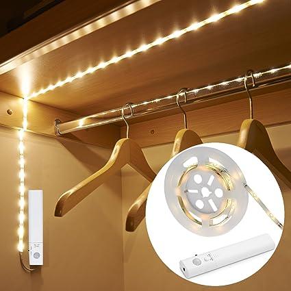 Amagle led dual mode motion night light flexible led strip with motion sensor closet light