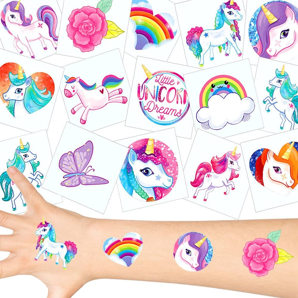 German Trendseller® - 36 x Tatuajes temporales Unicornio ┃Fiesta Unicornio┃los Colores del Arco Iris┃ Fiestas Infantiles┃ Idea de Regalo┃piñata┃cumpleaños de niños┃ 36 Unidades…