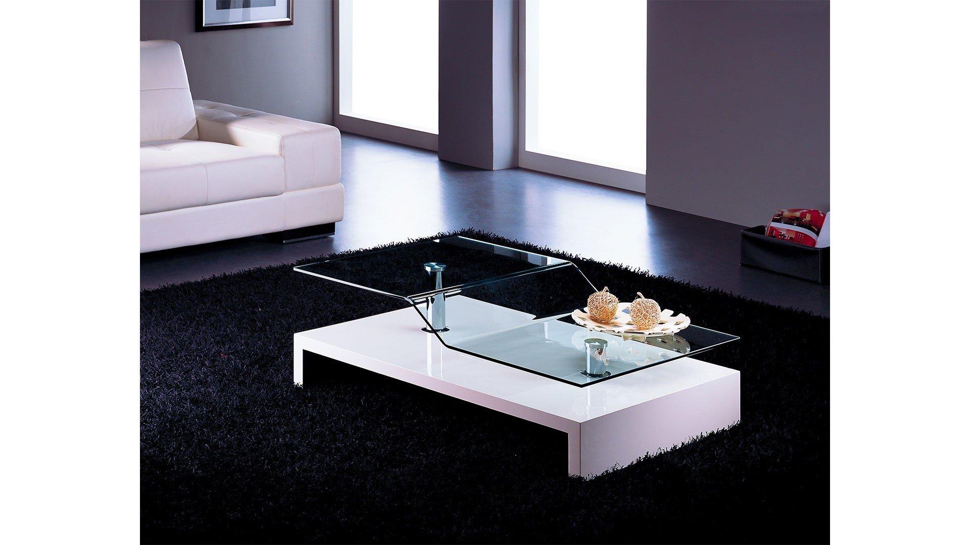 At Home skuC0115 Quatro White Lacquer Coffee Table