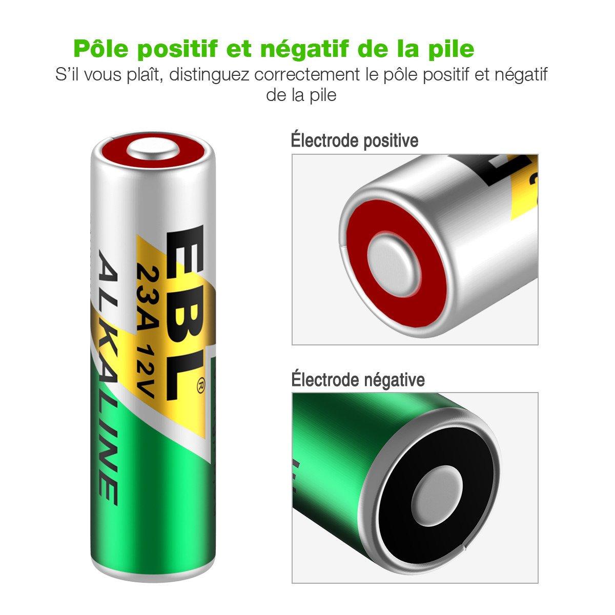 EBL 23A Piles Ni-Mh Batterie Longue Durée de Conservation (23A Piles*10)