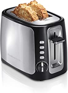 Hamilton Beach 22820 Toaster with Bagel and Defrost Settings, Boost, Auto-Shutoff and Cancel Button Wide Slot, 2 Slice, Sure Toast