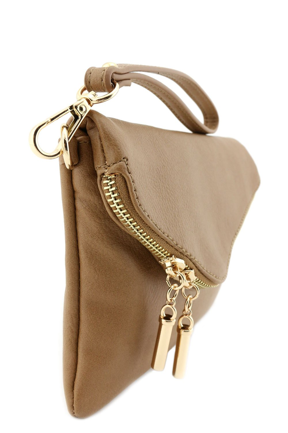 Envelope Wristlet Clutch Crossbody Bag with Chain Strap Stone by FashionPuzzle (Image #3)