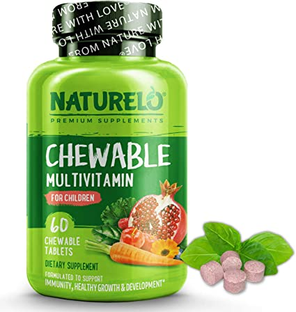 Amazon Com Naturelo Chewable Multivitamin For Children With Natural Vitamins Whole Food Minerals Organic Fruit Vegetable Extracts Best Vegan Vegetarian Supplement For Kids 60 Tablets Health Personal Care