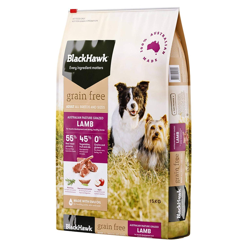 15kg Black Hawk Dog Grain Free Lamb 15kg