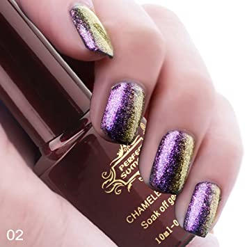 Perfect Summer 3D Holographic Chameleon Colors Changes 10ml Gel Nail Polish UV LED Soak Off