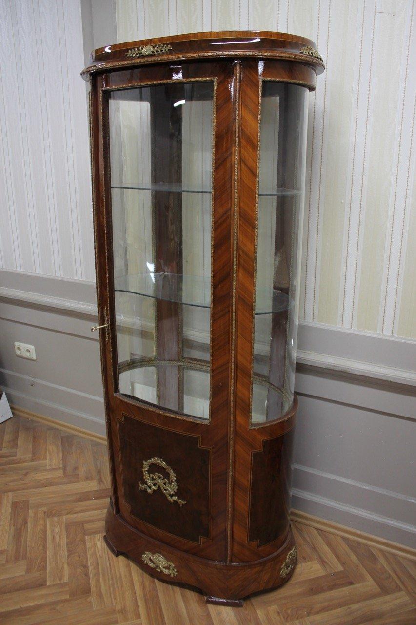 Barock Vitrine Rokoko Antik Stil Schrank Louis XV MkVi0151Bg