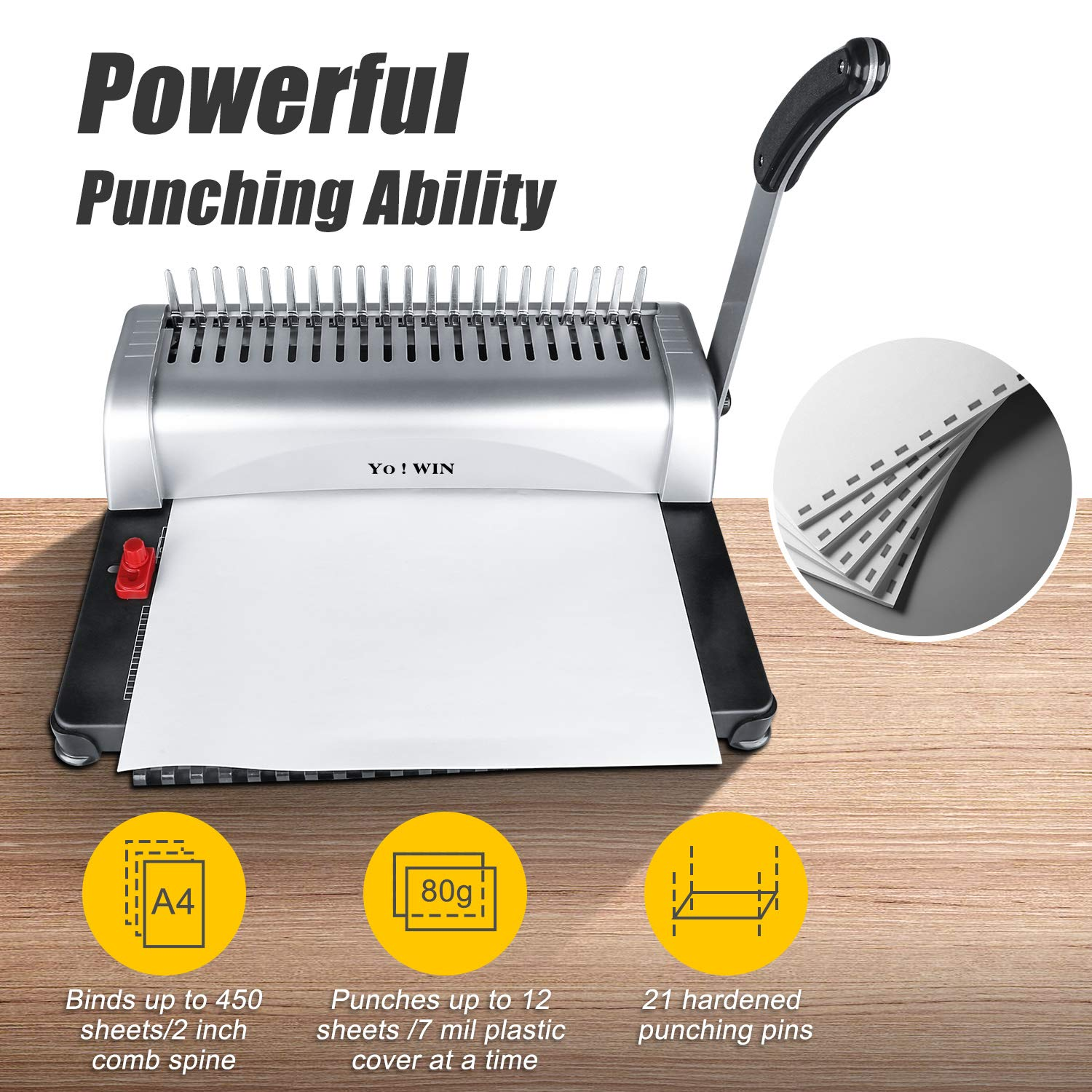 2x TWIN HOLE PUNCHES Home School Office Stationery Filing Sheet Paper Perforator