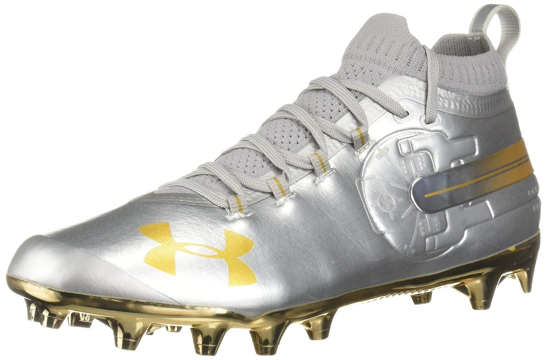Under Armour Men's Spotlight-Limited Edition Football Shoe, 銀 (100)/Metallic ゴールド, 15