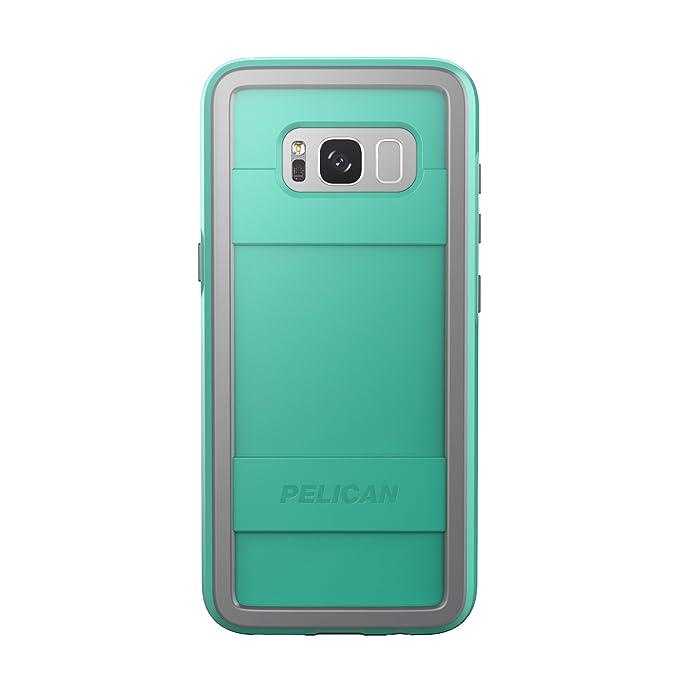 new style 7cc63 b5d1f Pelican Protector Samsung Galaxy S8+ Case - Aqua/Grey