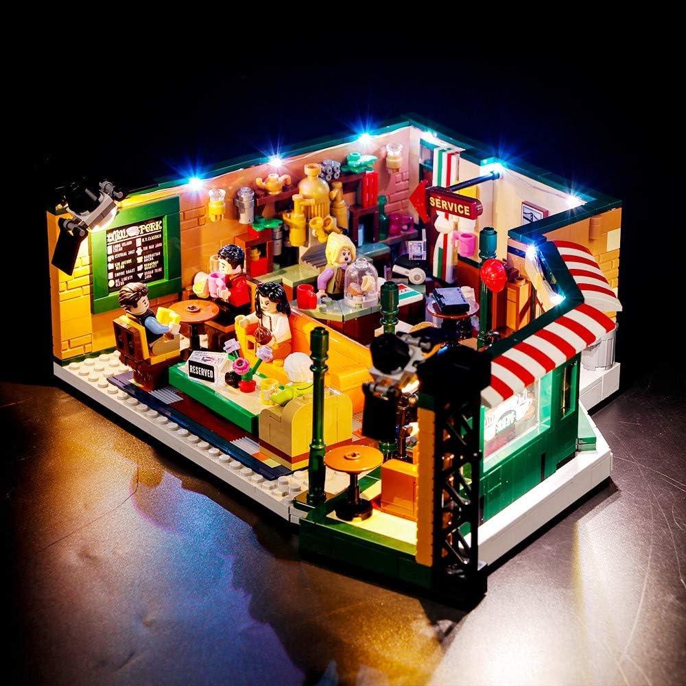VONADO Led Lighting Kit for 21319 Central Perk Ideas Series Lighting Group Building Blocks Bricks Toys Gift to Friends Adult Boys and Girls Festival Christmas(Lights Only)