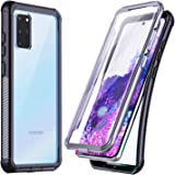Temdan for Samsung Galaxy S20 Plus Case, Built-in Screen Protector Full Body Heavy Duty Shockproof Case Support Wireless Char