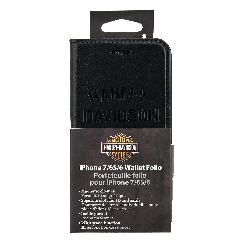 Amazon.com: Harley Davidson Leather Wallet Folio for iphone 8 ...