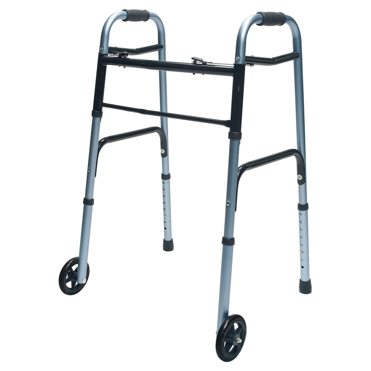 """Lumex ColorSelect Adult Walker with 5"""" Wheels, Blue, 716270B-1"""