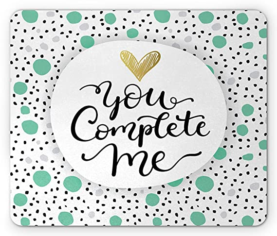 Amazon.com : You and Me Mouse Pad, You Make Me Happy Message ...