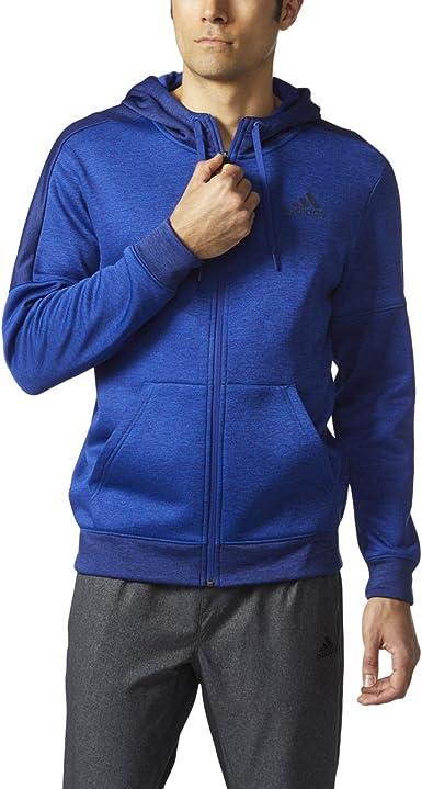 Adidas Mens Team Issue Full-Zip Hooded Sweatshirt Hoodie
