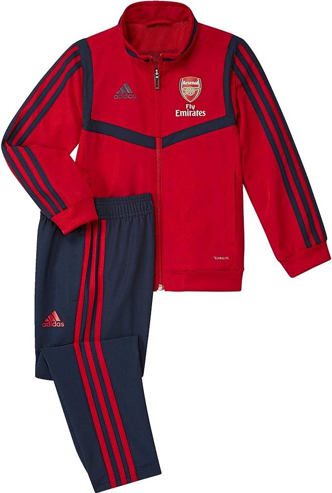 adidas AFC Pre Suit I Chándal, Unisex niños, Escarl/Maruni/Maruni ...