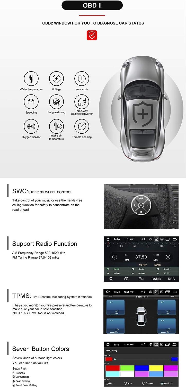 Per Fiat Grande Punto Linea 2007-2012 Android 10.0 Octa Core 4 GB RAM 64 GB ROM 7Lettore multimediale per auto Supporto per sistema GPS Riproduzione auto TPMS OBD 4G WiFi DAB