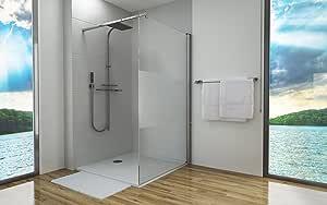 Paneles de ducha de vidrio de seguridad templado de 8 mm, mampara ...