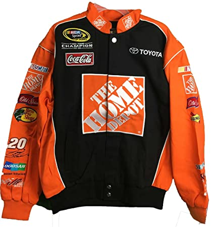 2197d22e Tony Stewart #20 Home Depot Vintage Trackside Orange/Black Adult Jacket ( Large)
