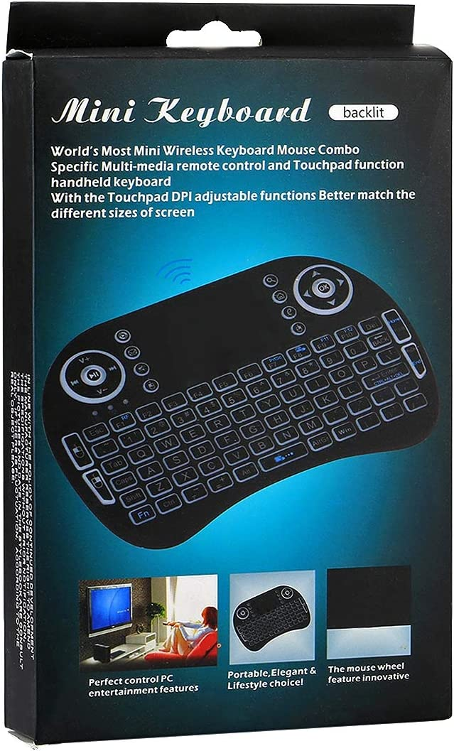 Russian i8 air mouse wireless keyboard with touchp 2.4GHz Mini i8 Wireless QWERTY Keyboard with Colorful Backlight /& Touchpad /& Multimedia Control for PC Android TV BOX X-BOX Player Smartphones