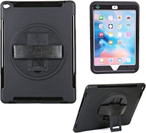 Sivart Travel Case for iPad Pro 12.9 (2015 Model) | Extreme Heavy Duty Protection with Built-in Rotating 360 Degree Hand Strap and Kickstand.