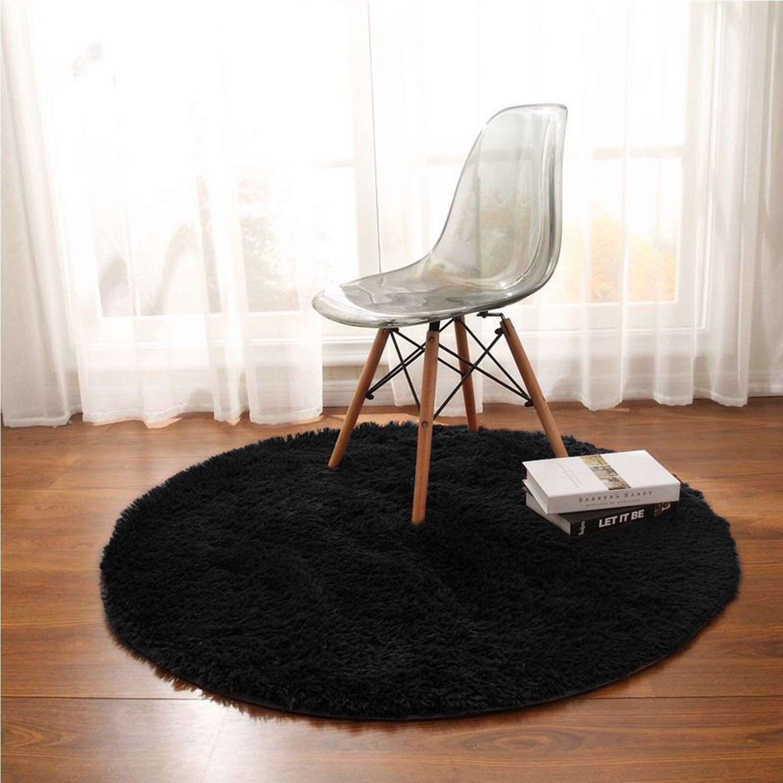 alfombras negras redondas