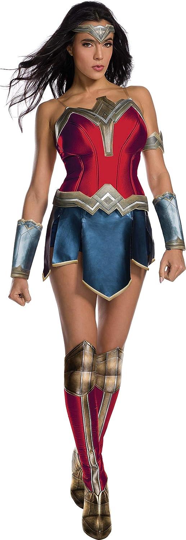 Justice League Adult Deluxe Wonder Donna Fancy dress costume Large