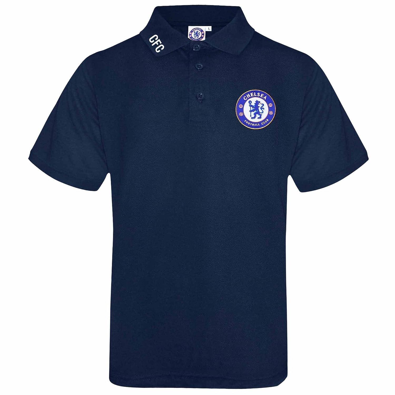 Polo Oficial de Chelsea FC para Adultos con Escudo Bordado: Amazon ...