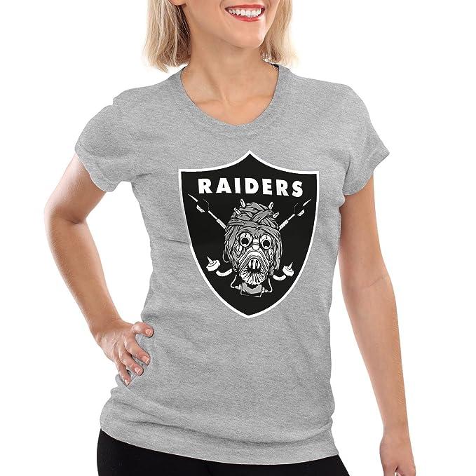 A.N.T. Tusken Raiders Camiseta para mujer T-Shirt fútbol americano equipo tatooine, Color:Gris brezo;Talla:2XL: Amazon.es: Ropa y accesorios