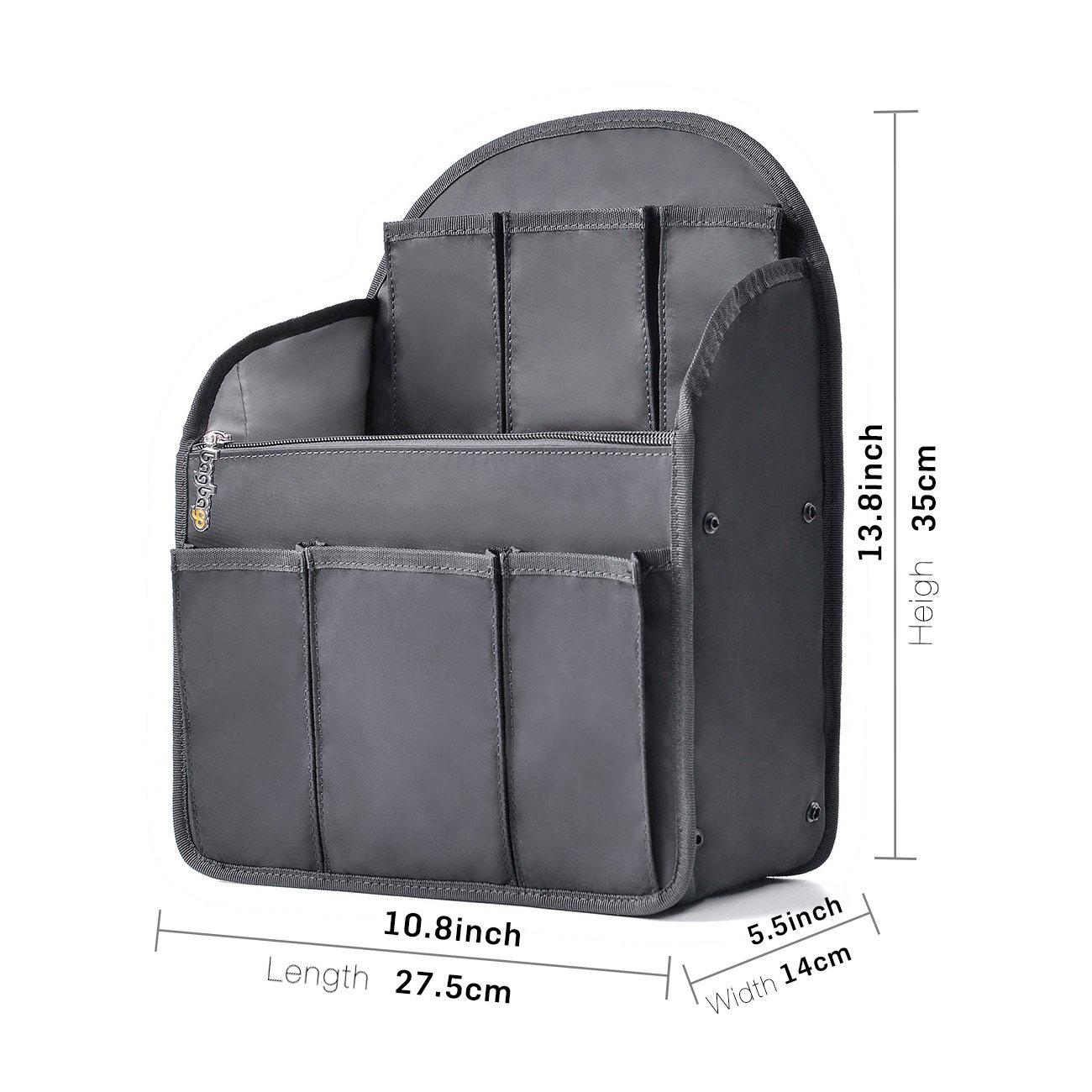 bag in bag Shoulders Bag Rucksack Insert Backpack Organizer fit MCM,Black  (Large)