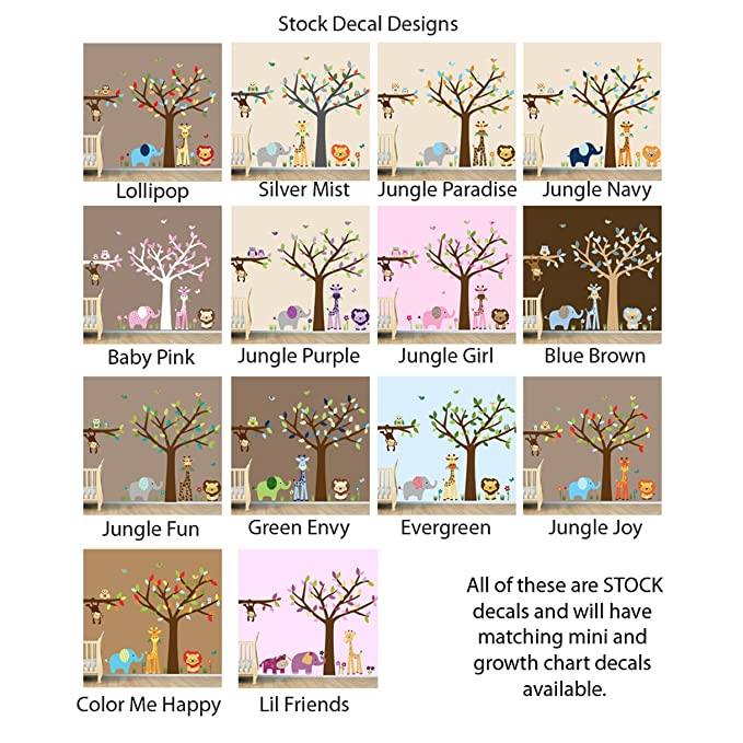 Amazon Safari Happy Jungle Growth Chart Wall Decals Jungle