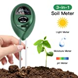FYLINA Soil pH Meter, 3 in 1 Soil Test Kit for