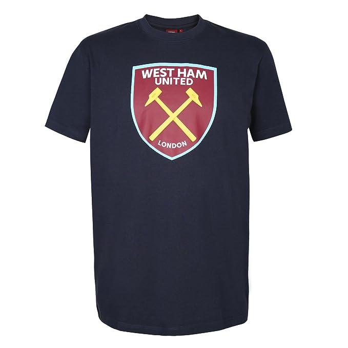 West Ham United FC - Camiseta Oficial para Hombre - con el Escudo del Club: Amazon.es: Ropa y accesorios