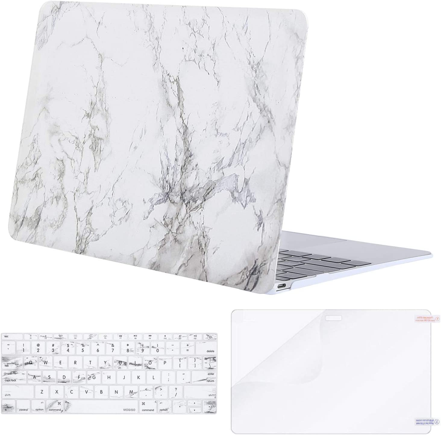 MOSISO Plastic Hard Shell Case /& Keyboard Cover Skin Only Compatible with MacBook 12 inch with Retina Display Black Model A1534, Release 2017 2016 2015