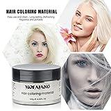 Temporary White Hair Wax Natural Ash Matte Hair